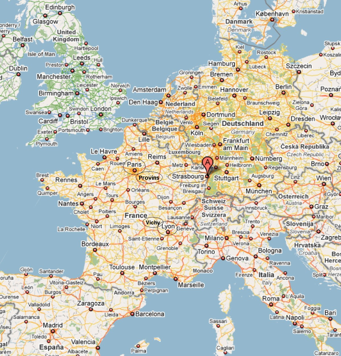 Carte Frontiere Alsace Allemagne.Mireille Warschawski